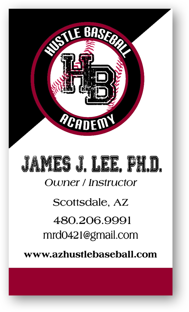 J Lee Front Business Card